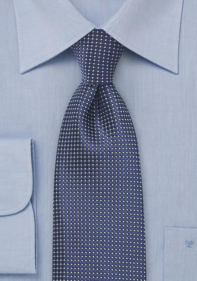 Krawatte strukturiert blau fast metallisch