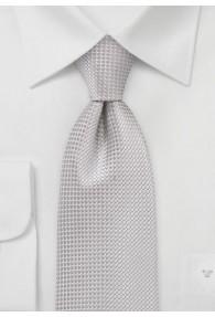 Krawatte strukturiert silbergrau fast...