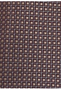 Krawatte Gitter-Struktur anthrazit hellbraun