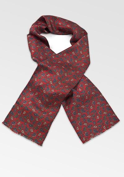 Krawattenschal dunkelrot  Paisleys