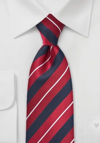 Krawatte Streifendesign rot navy