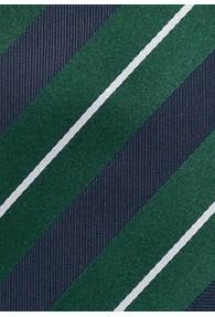 Businesskrawatte Streifendessin navy dunkelgrün