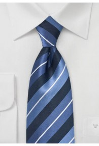 Krawatte Streifendesign navy hellblau