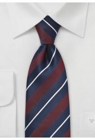 Krawatte Streifenmuster navyblau bordeaux