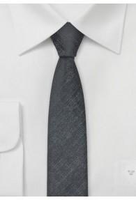 Party-Krawatte schmal geformt schwarz silbrig