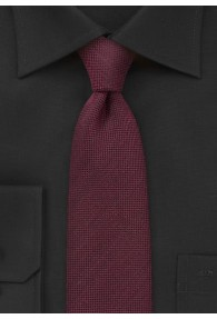 Krawatte grob texturiert bordeauxrot