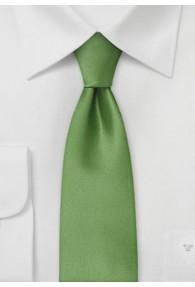 Schmale Mikrofaser-Krawatte monochrom grün