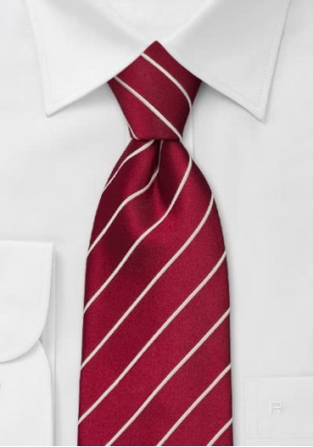 Elegance Krawatte in chilli-rot XXL