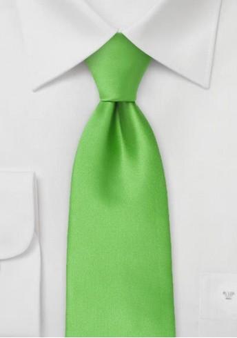 Mikrofaser-Krawatte XXL monochrom grün