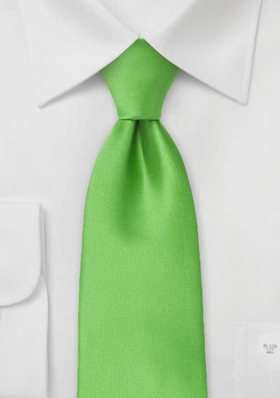 Mikrofaser-Krawatte Clip monochrom grün