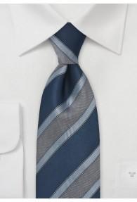 Krawatte edles Streifen-Dekor navy