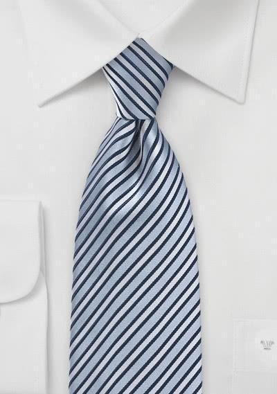 Businesskrawatte Streifen-Dekor taubenblau