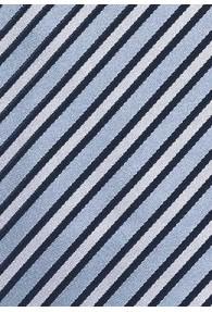 Businesskrawatte Streifen-Dekor taubenblau hellgrau