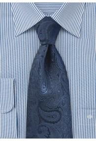 Elegante Krawatte Paisley dunkelblau