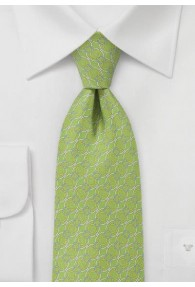 Krawatte gewundene Bänder hellgrün