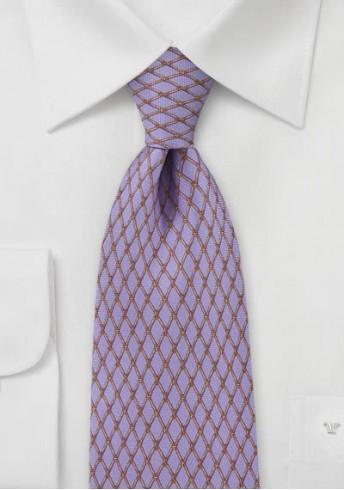 Kravatte violett Gitter-Struktur
