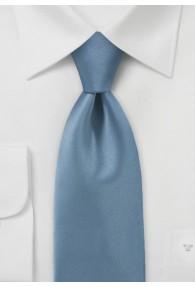 Businesskrawatte unifarben Poly-Faser rauchblau