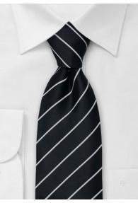 Elegance Krawatte schwarz/silber