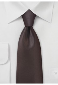Krawatte einfarbig Poly-Faser braun