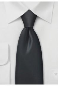 Krawatte unifarben Mikrofaser schwarz