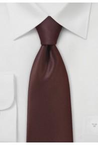 Krawatte einfarbig Poly-Faser rotbraun