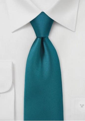 Krawatte unifarben in petrol