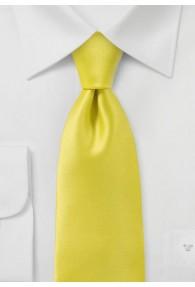 Krawatte unifarben Poly-Faser zitronengelb