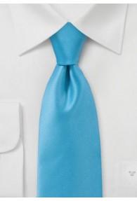 Kravatte einfarbig Poly-Faser aqua