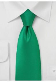 Krawatte einfarbig Poly-Faser grün