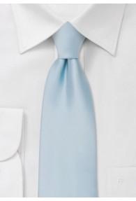 Krawatte monochrom Poly-Faser hellblau