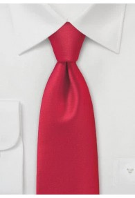 Kravatte monochrom Poly-Faser rot