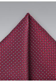 Einstecktuch Gitter-Oberfläche rot bordeaux