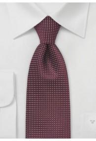XXL-Krawatte strukturiert bordeaux fast...