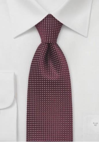 XXL-Krawatte strukturiert bordeaux fast metallartig