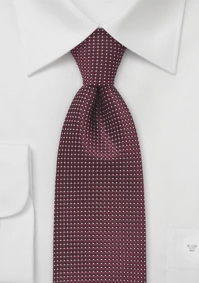 XXL-Krawatte strukturiert bordeaux fast