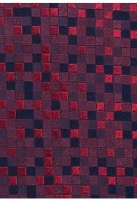 Herrenkrawatte lang Vierecke rot