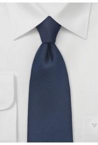 XXL-Herrenkrawatte  zart strukturiert dunkelblau