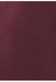 XXL-Herrenkrawatte bordeauxrot unifarben Streifendessin