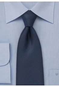 XXL-Krawatte unifarben dunkelblau