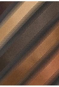 XXL-Streifen-Krawatte braun