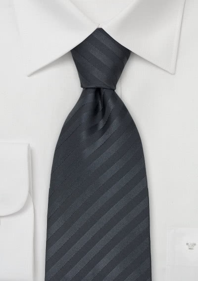 Kinder-Krawatte anthrazit