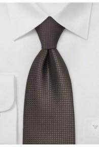 XXL-Krawatte Mokka Gitterstrukturen