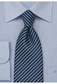 XXL-Kravatte Streifen-Pattern hellblau navy