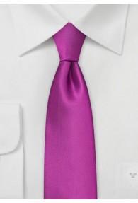 Schmale Krawatte lila