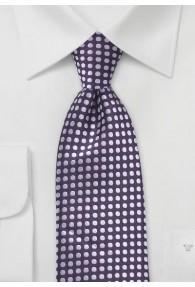 XXL-Krawatte Punkt-Dessin violett