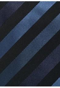 XXL-Krawatte junges Streifenmuster navyblau navyblau