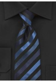 Clip-Krawatte junges Streifenmuster navyblau navyblau