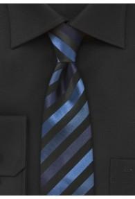 Schmale Krawatte junges Streifenmuster navyblau...