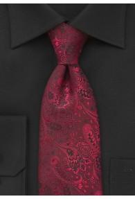 XXL-Krawatte florales Dessin rot