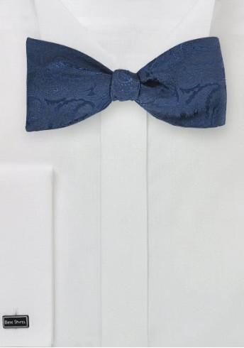 Fliege Selbstbinder marineblau dunkelblau